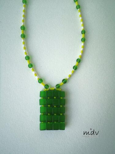 Зеленые кубические бусины из кошачьего глаза, чешский и японский бисер, стеклянные зеленые бусины.