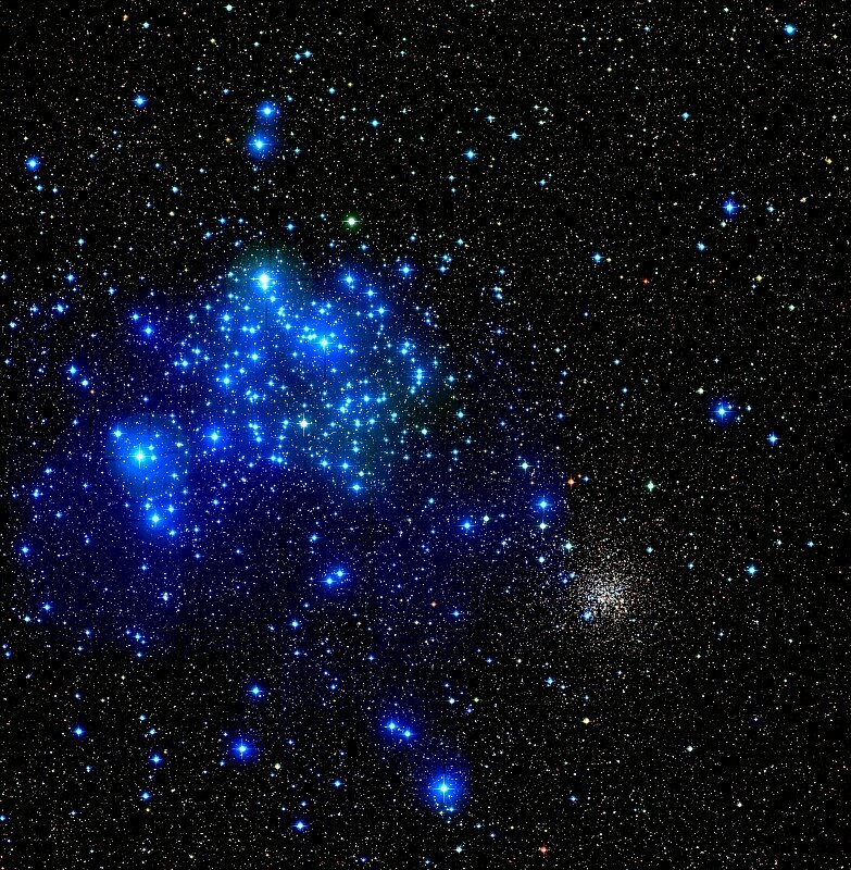 NGC 2158 — рассеянное скопление в созвездии Близнецы