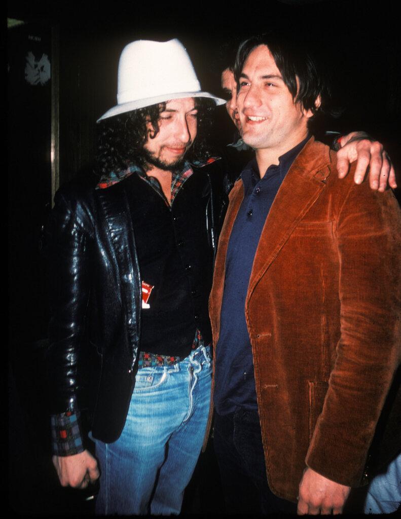 Bob Dylan and young actor Robert De Niro