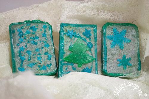 Новогоднее мыло: идеи декора.