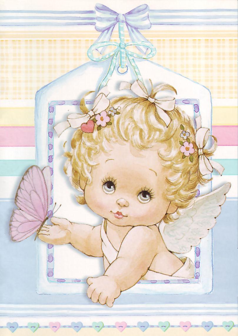 Днем, милые открытки с ангелочками