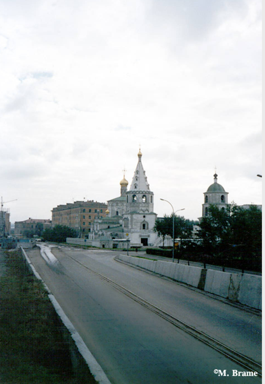 Иркутск. Вид на собор Богоявления с Нижней Набережной