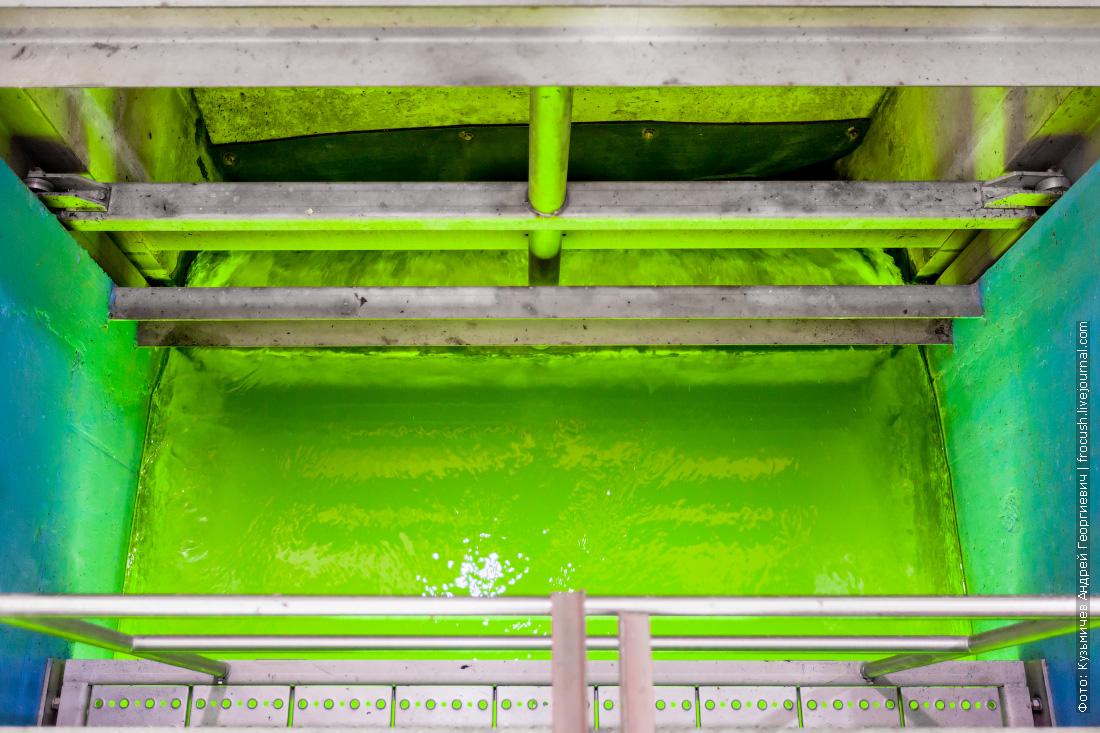 блок ультрафиолетового обеззараживание очищенной воды Люберецкие очистные сооружения фотография