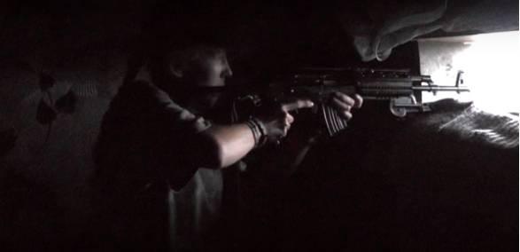"""В зоне АТО: Бойцы """"ПСу"""" опубликовали впечатляющее видео вечернего боя (18+)"""