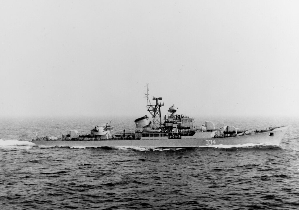Soviet Baltic Fleet RIGA class ocean escort, photographed during 1959.