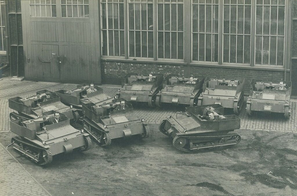 Carden Loyd Mk VIs Carriers at the Elswick Works, Newcastle upon Tyne, c1930.