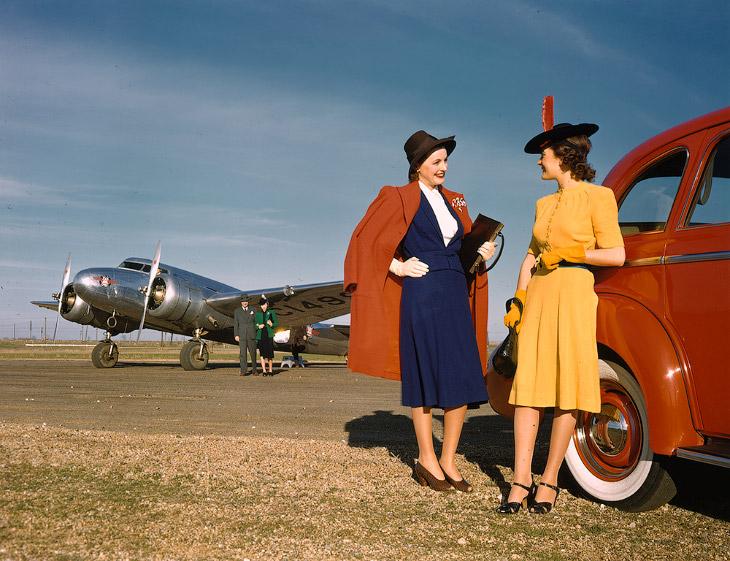 1940-е в цветах Кодахром (35 фото)