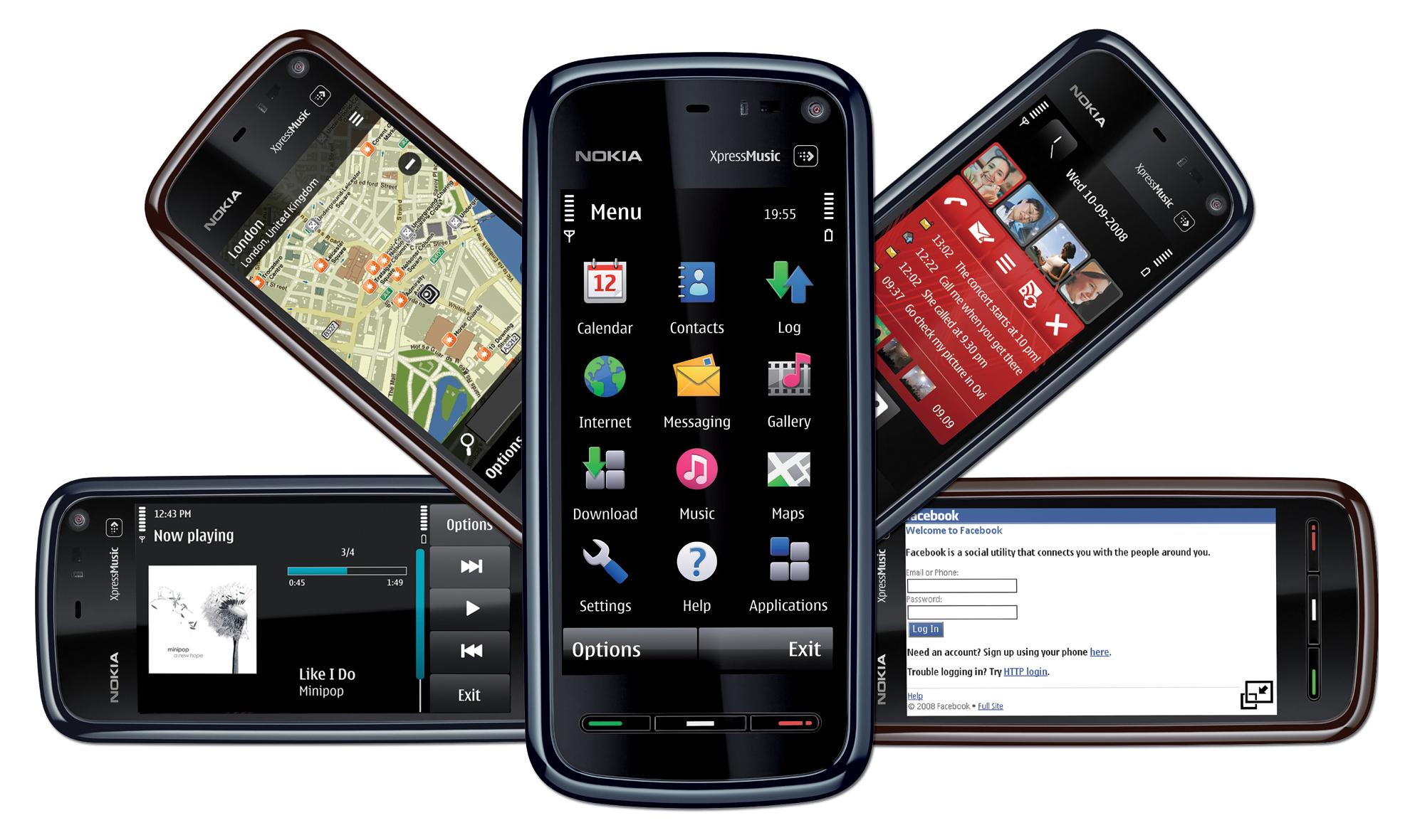 2008 год: 5800 XpressMusic был ответом Nokia на iPhone, который появился годом ранее. Это была перва
