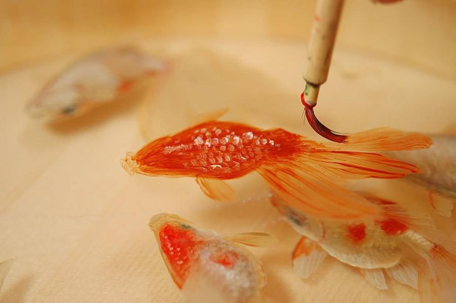 Трудно поверить в то, что это трёхмерный рисунок, а не настоящая рыбка.
