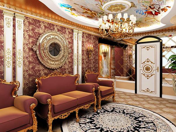Обычная панельная трешка в Саратове в стиле барокко.