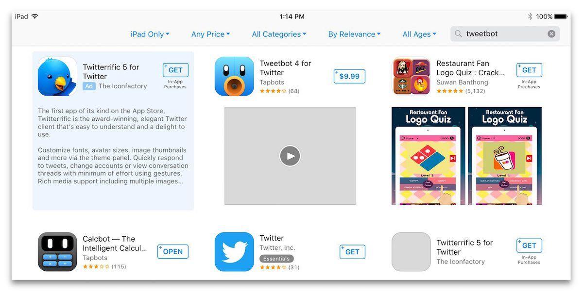 Приобрести место впоисковой выдаче App Store сейчас можно официально