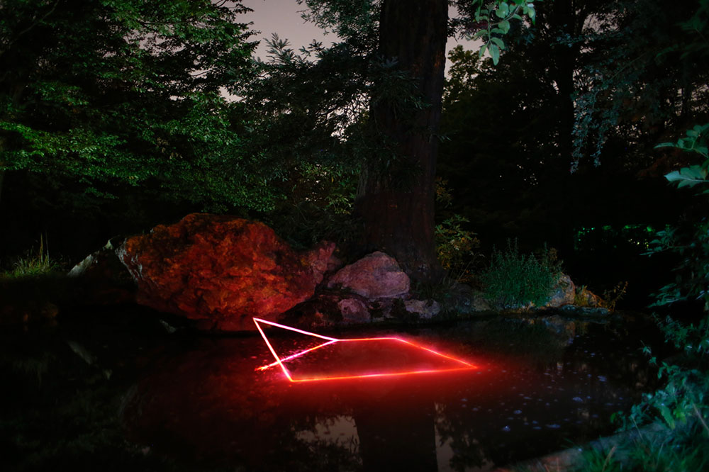 Geometric Light Installations by Nicolas Rivals Bathe the Spanish Countryside in Red