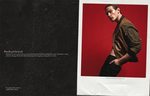 Antonina Petkovic & Petar Grbic Star in Harper's Bazaar Man Serbia Cover Story