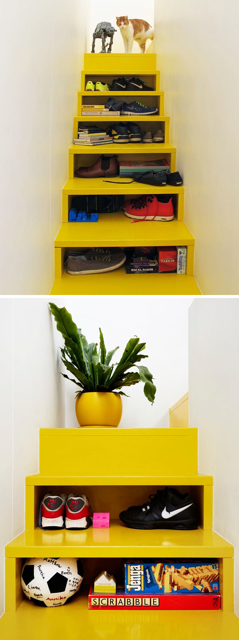 Colorful & Clever Stairs by Andrew Maynard