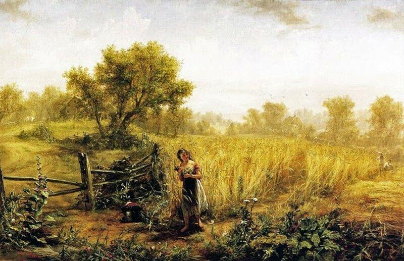 5 Jerome Thompson (American genre artist, 1814-1886) In the Fields.jpg