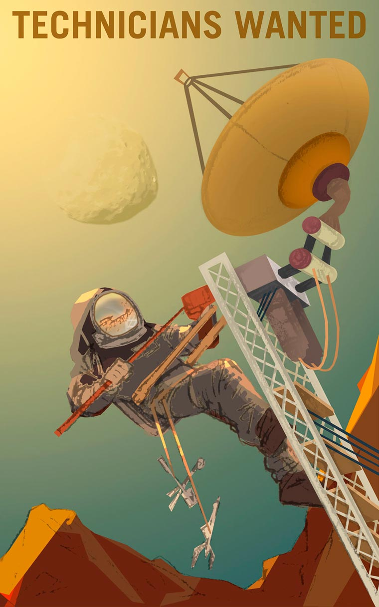 Mars needs you! - When NASA recruits explorers with vintage posters