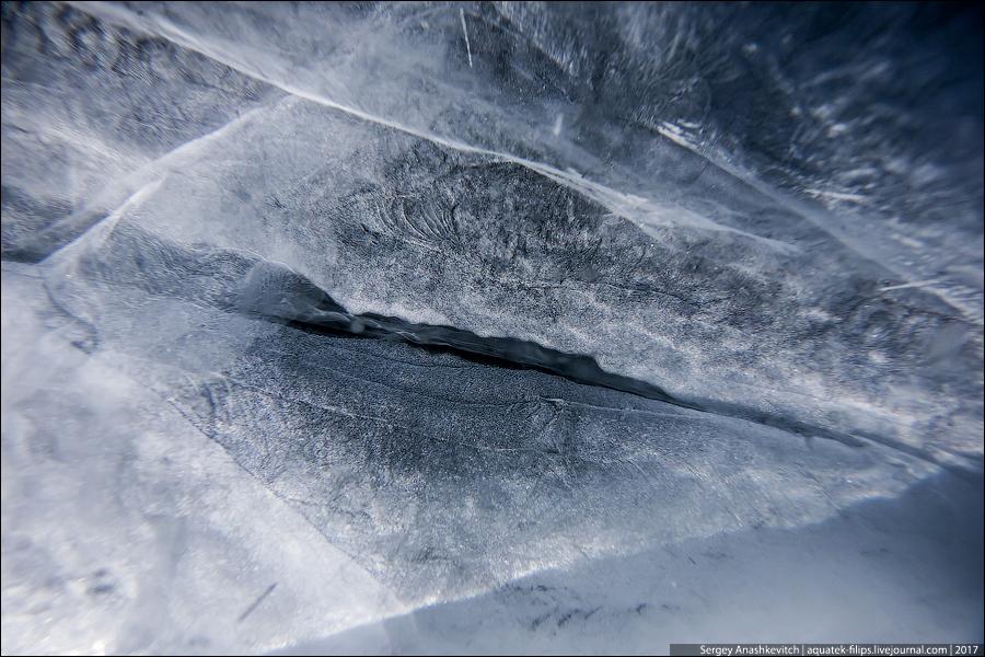 Ледяное макро Байкала