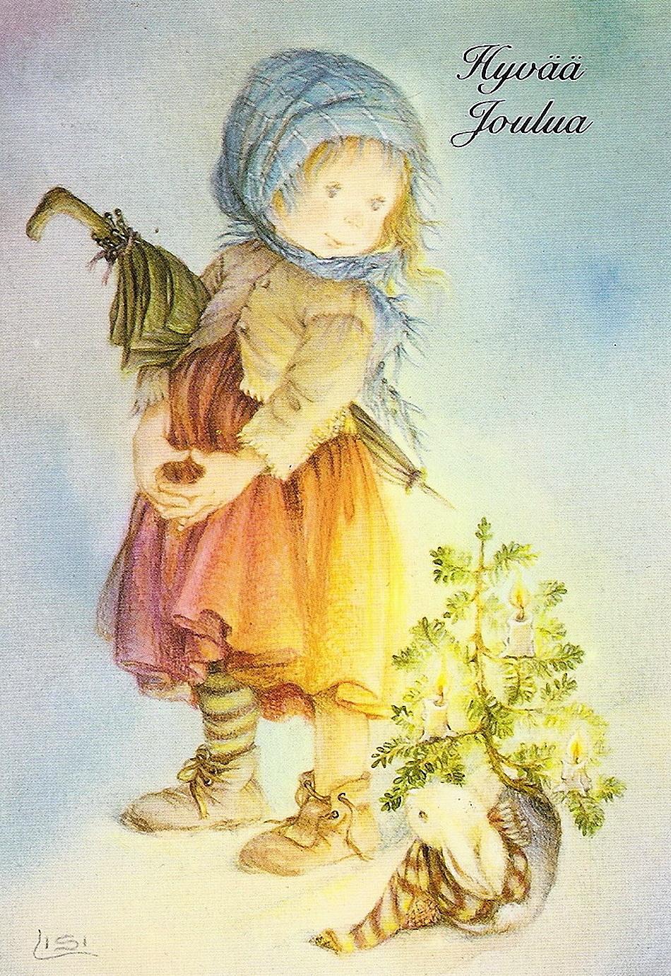 Рождество открытки художника, месяцев мальчику