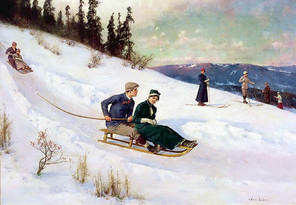 Норвежский художник Axel Ender (1853-1920)
