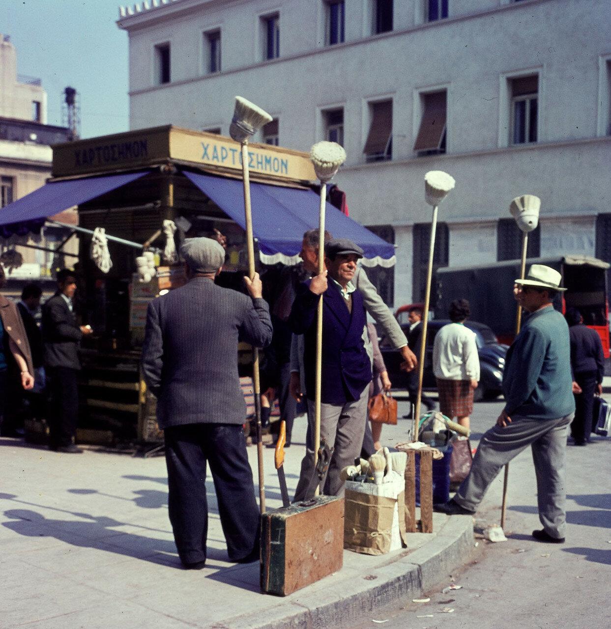 Ζωγράφοι, οι εργάτες ημέρα προσληφθεί για να εργαστούν