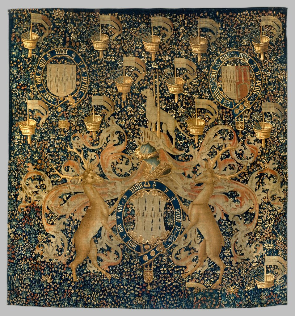 Tapestry with Armorial Bearings and Badges of John, Lord Dynham