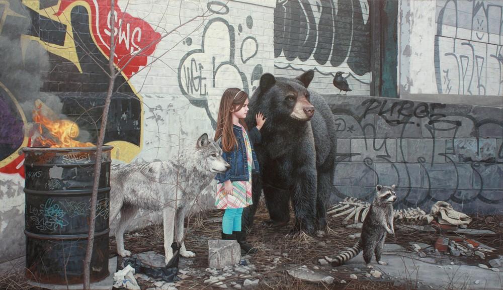 Гиперреалистические рисунки детей и животных Кевина Питерсона
