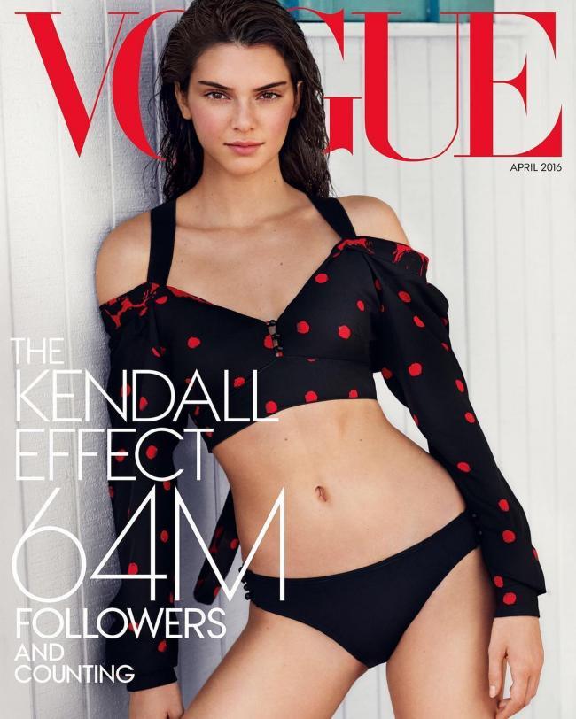 Кендалл Дженнер попала на обложку Vogue