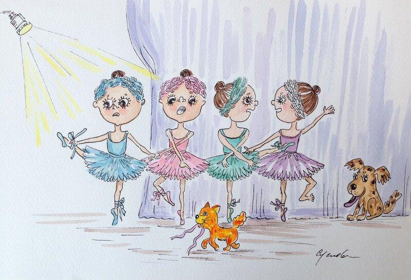 закулисье танец маленьких лебедей перед выходом на сцену.jpg