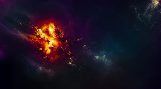 Уроки Photoshop: Создание необычного эффекта взрыва планеты