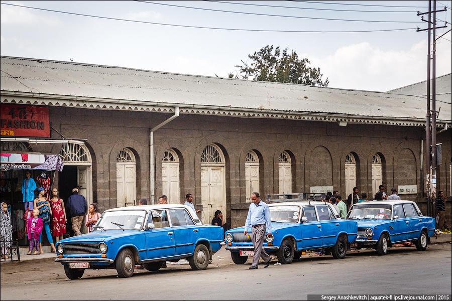 Эфиопское такси. ВАЗ-2101 (16 фото)