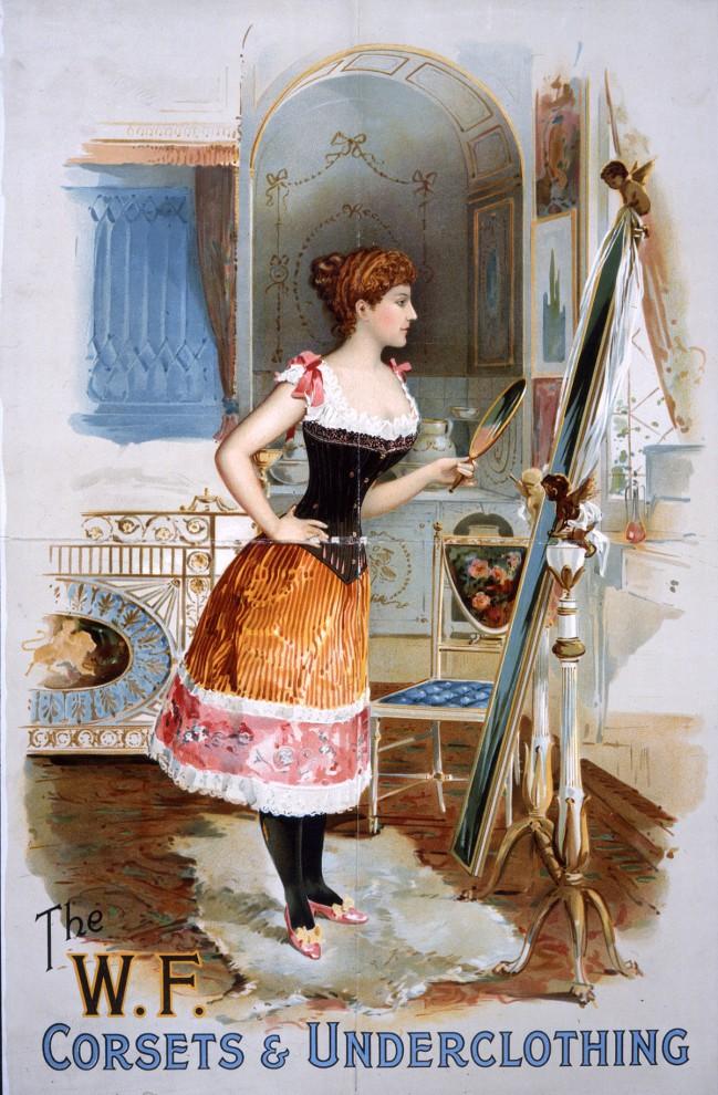 К концу XIX века корсеты и нательные рубашки стали более облегающими и откровенными.