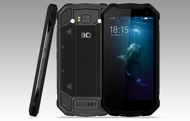 BQ-mobile представила смартфон BQ-5033 Shark сзащищенным корпусом