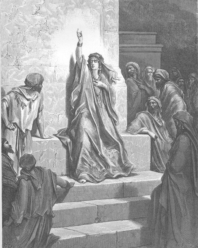 Deborah in one of Gustave Dores illustrations for La Grande Bible de Tours