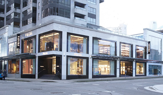 PRADA opens its first store in the heart of the Vancouver, on Alberni Street, the city's most presti