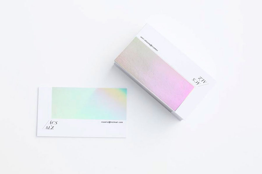 Elegant Silver Business Card