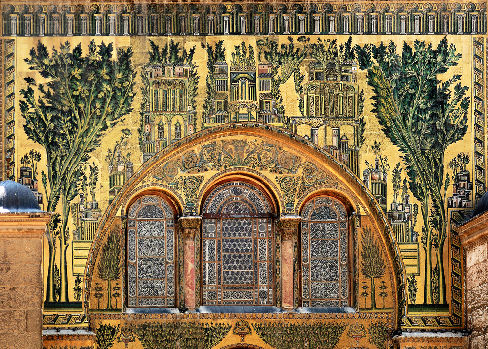 Дамаск. Мечеть Омейядов. Большая мозаика на золотом фоне