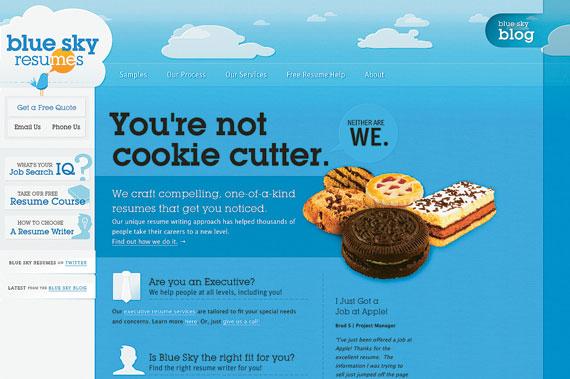 синий цвет в оформлении сайта
