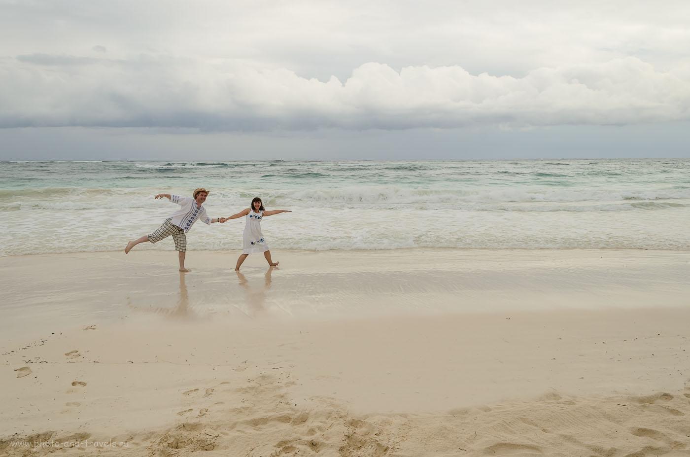 Фото 18. Мексика. Пляж в Тулуме. Отзывы туристов о самостоятельном отдыхе на курортах страны. Фотоаппарат Nikon D5100. Снято со штатива. Настройки. 1/320, 10, 18, 200. Подробности об отдыхе на курорте Tulum и об этой фотосессии читайте в 12-й главе отчета.