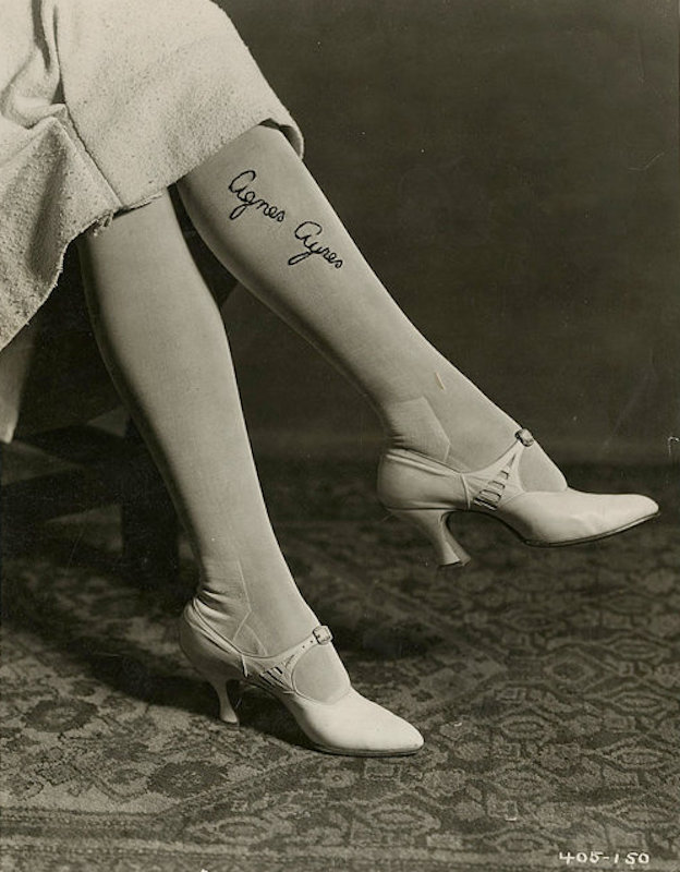 Paramount publicity photograph of Agnes Ayres in her signature stockings, 1920s..jpg