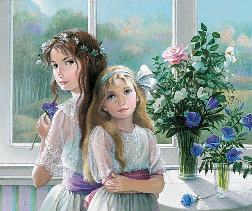 Картинки тех, открытки и рисунки о сестрах