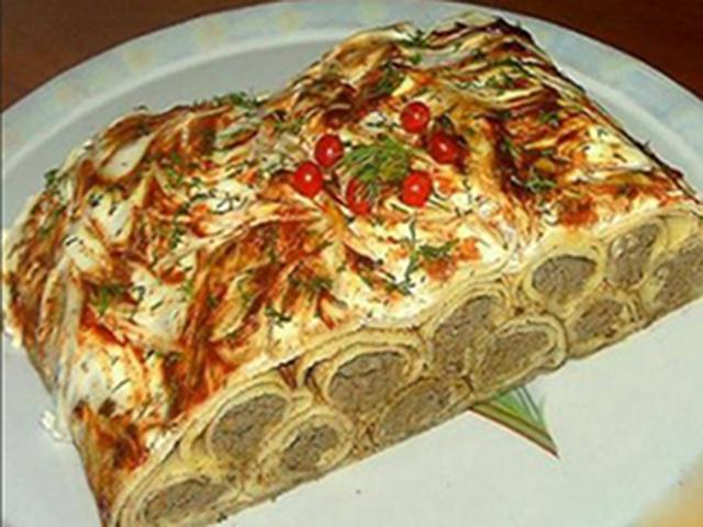 Пирог с куриной печенью рецепт с