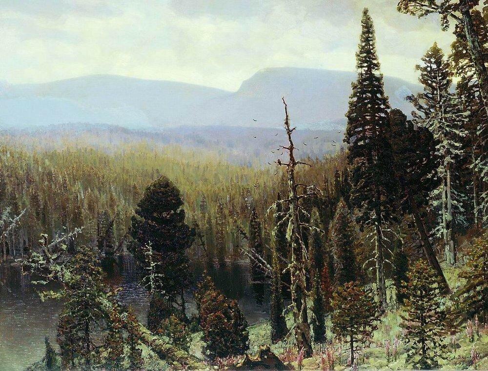 Тайга на Урале. Синяя гора. 1891.jpg