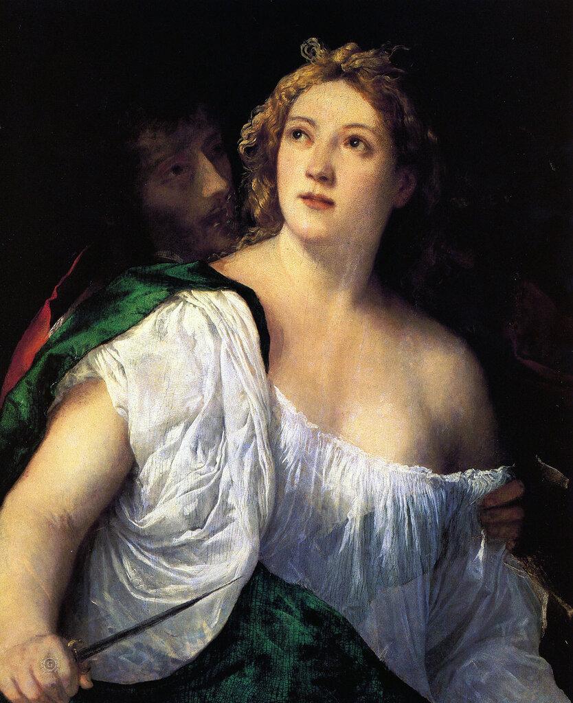 Тициан (Тициано Вечеллио): Titian Suicide of Lucretia 1515