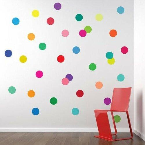 Наклейки на стены - креативный горох