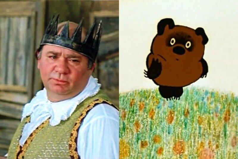 Актеры похожи на героев мультфильмов, которых озвучивали. Забавные фотографии