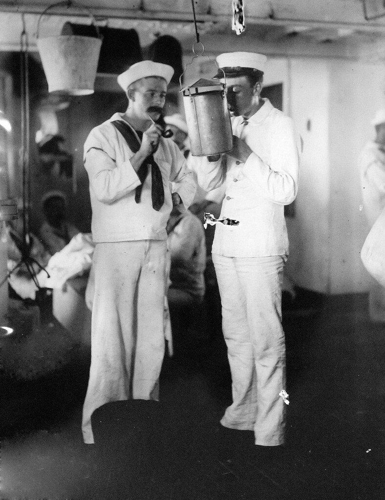 USS Olympia (Cruiser #6), smoking lamp, circa 1899
