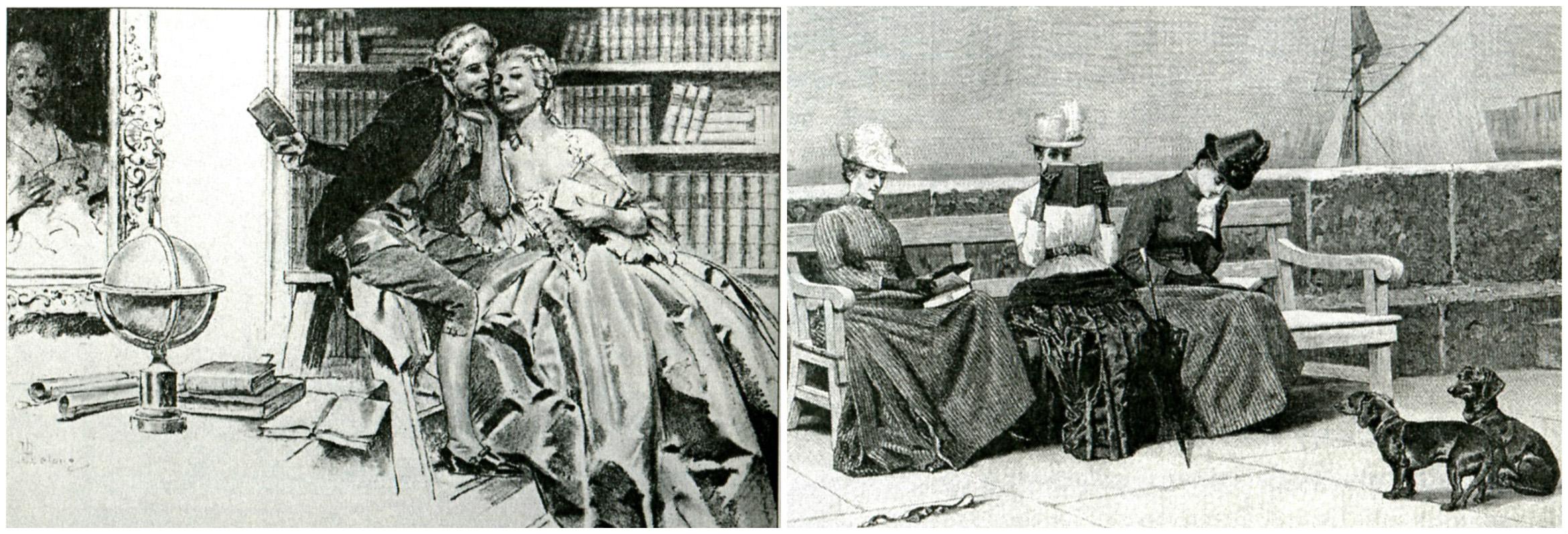 Рене Лелонг René Lelong (1871-1933) Рисунок из серии «Fantasio. XVII век» и рисунок неизвестного американского графика 1869