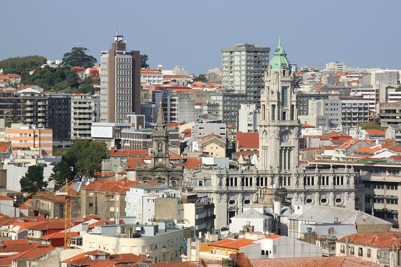 Порту, вид с башни Клеригуш (Porto view from the tower Clérigos)