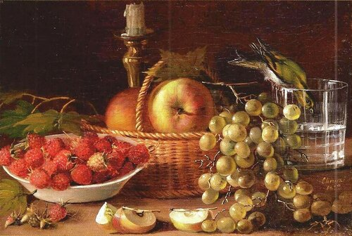 Иван Хруцкий. «Плоды и птичка» (1833).jpg