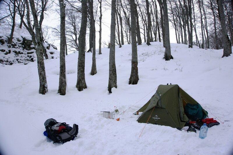 Наш лагерь утром